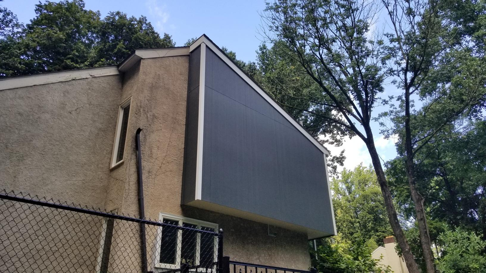 Replacing Three Sides of Wood Siding with Hardie Fiber Cement Vertical Siding in PA