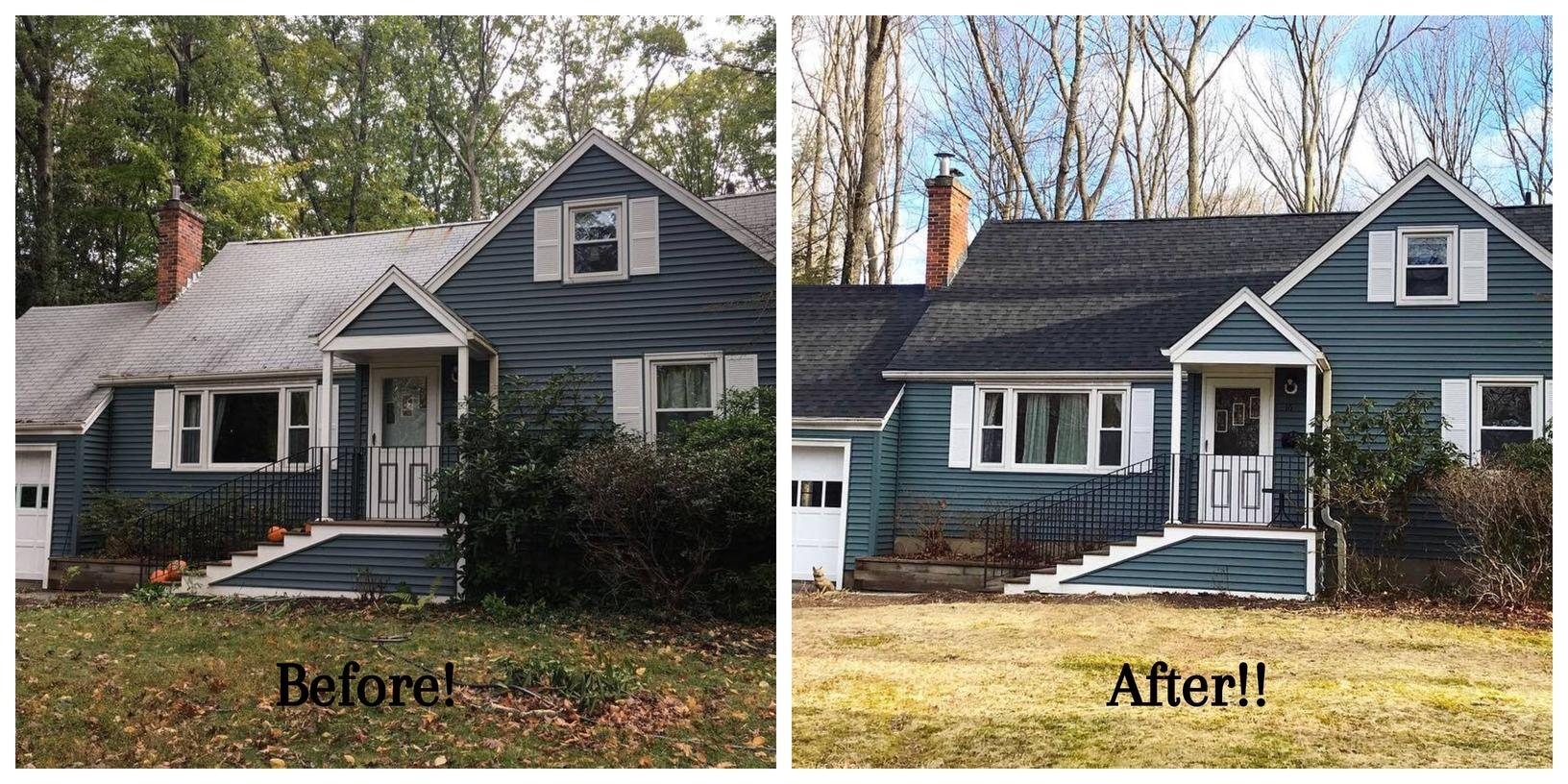 Before and After of a Roof Installed