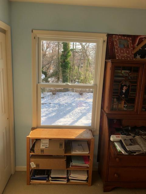Installing White Infinity Windows in Home Office