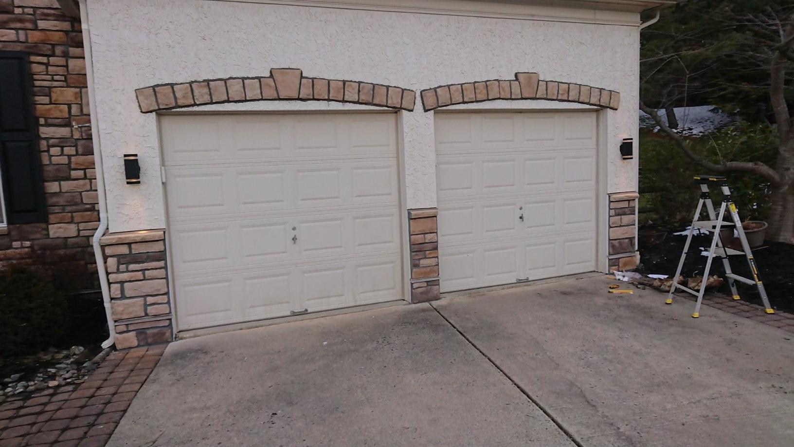 Stone Trim Around Garage Doors