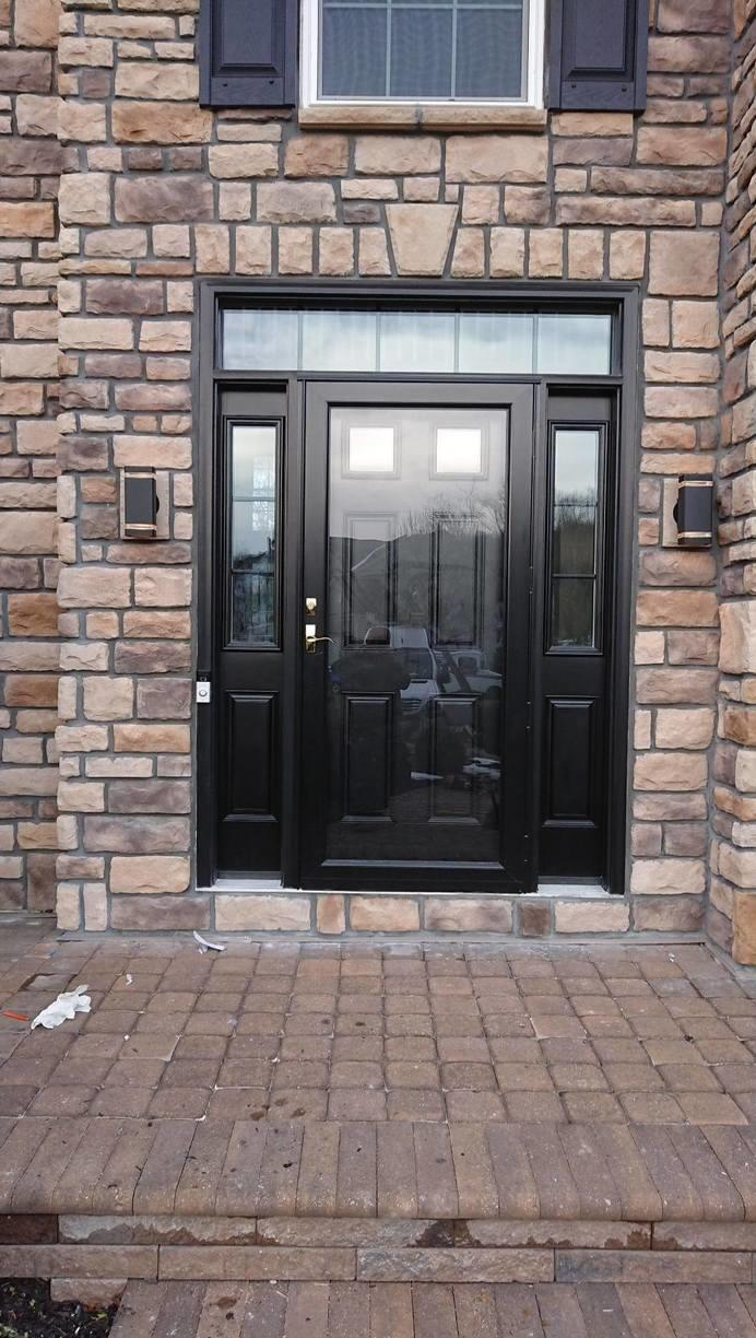 Entryway Transformation with ProVia Stone and Fiberglass Door