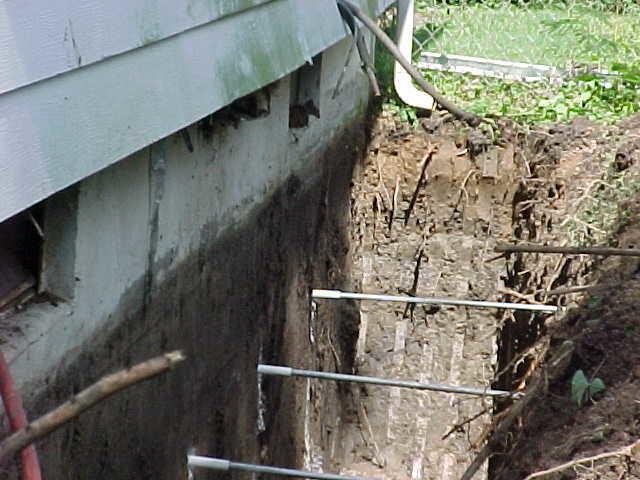 Foundation Repair Geo Lock Wall Anchor System In Granite