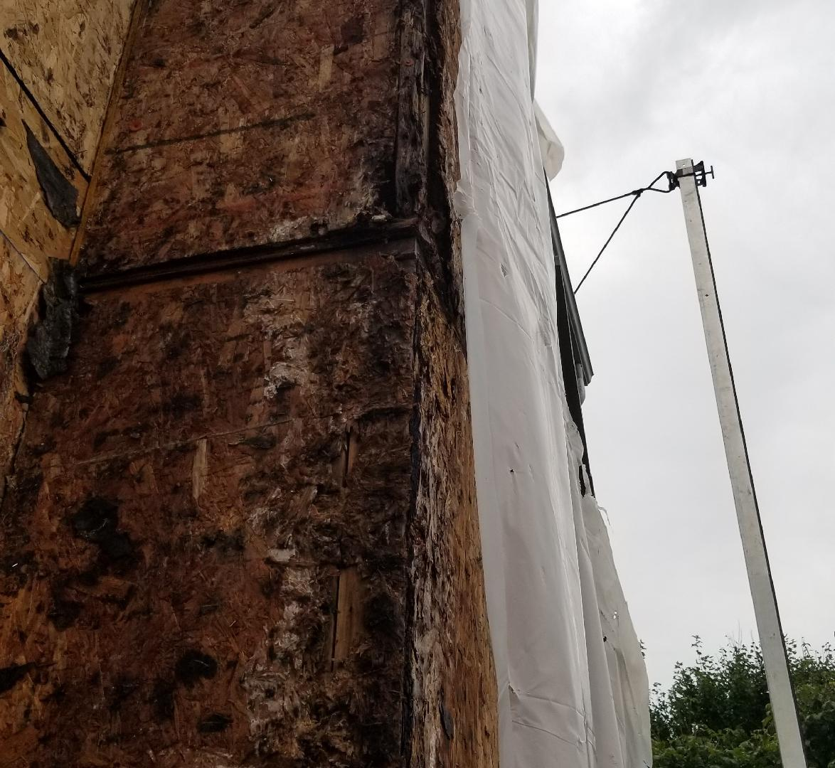 Rotted Wood Under Stucco Siding