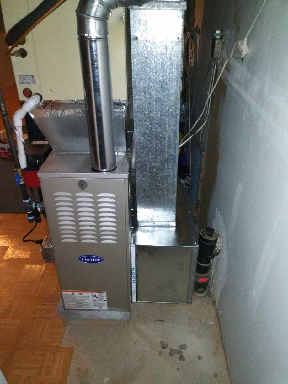 Fantastic Gas furnace replacement done for our customer in Branford!