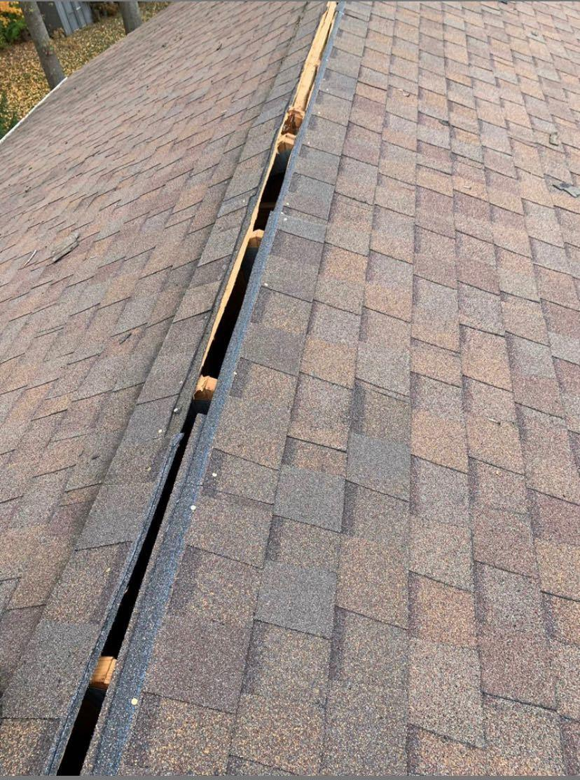 (Almost) Finished Ridge Vent Repair in Gahanna, OH