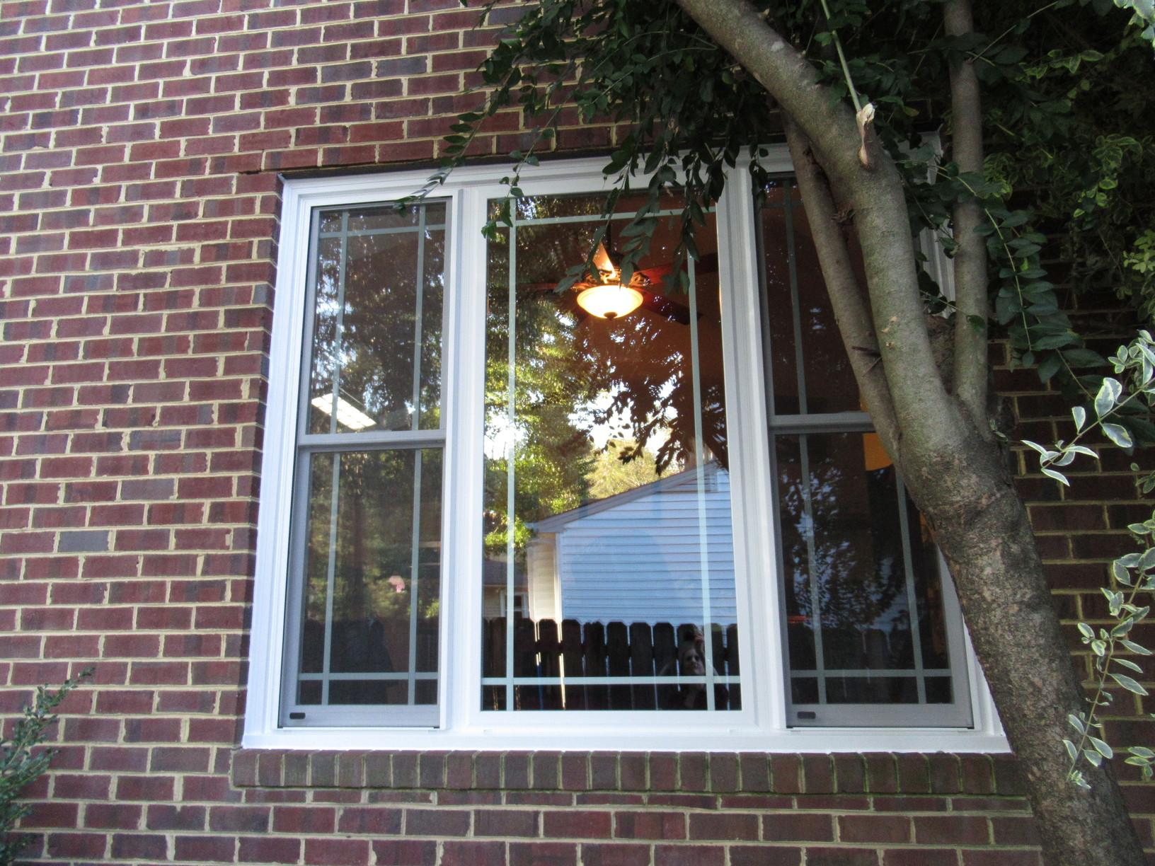 Vinyl Windows with Prairie Style Grid