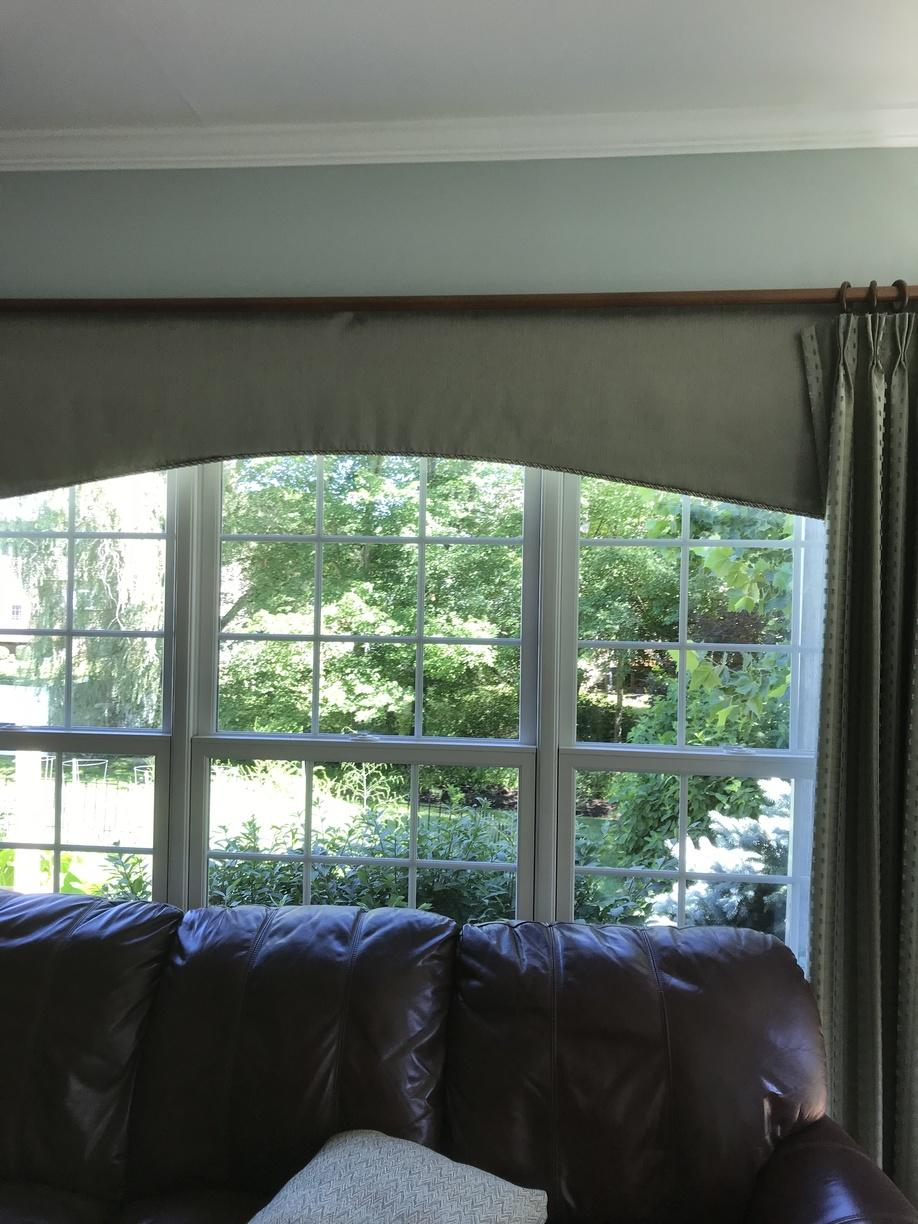 Triple Infinity Double Hung Ensemble in Living Room