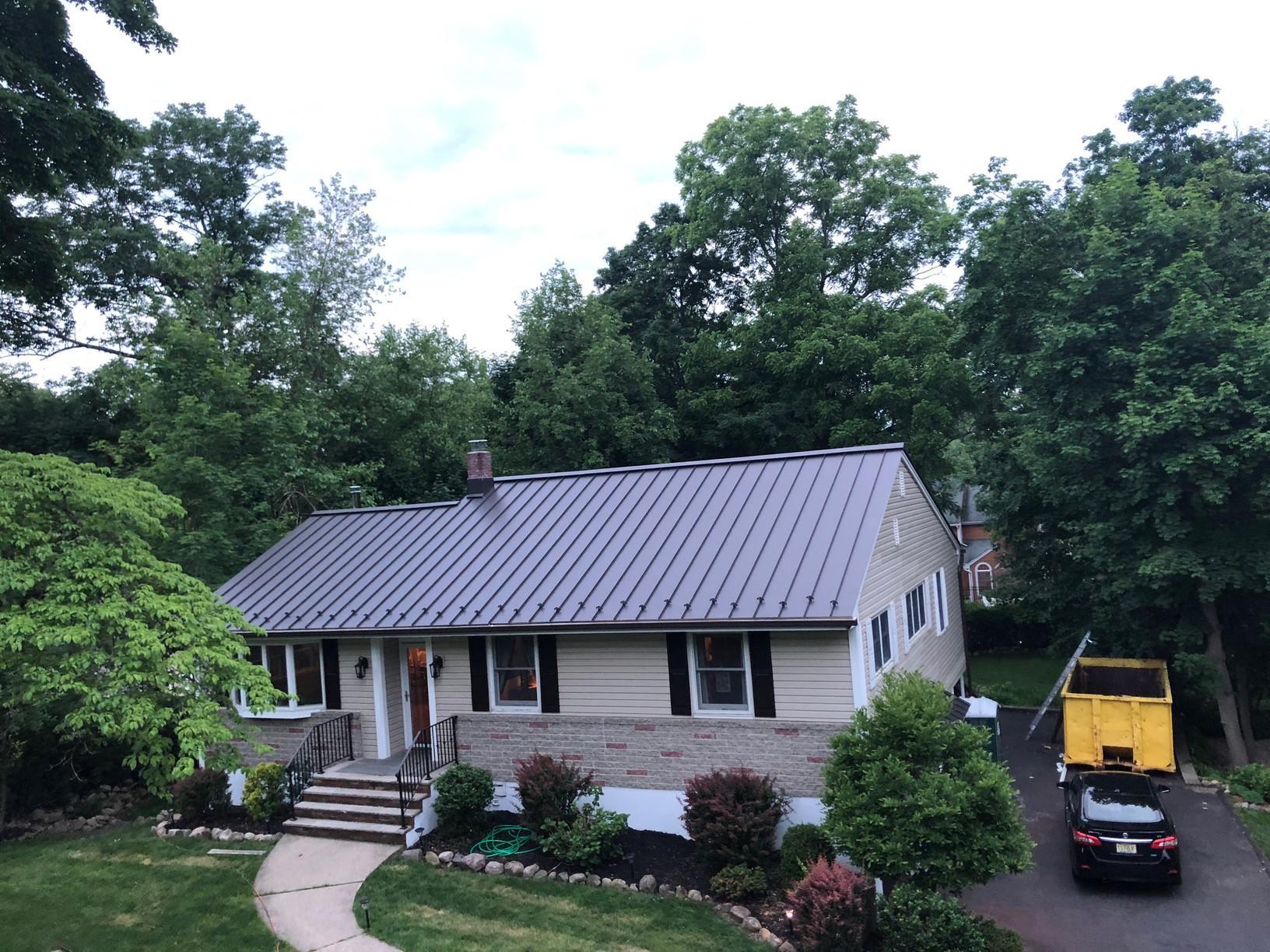 Grey Standing seam Metal Roof Install in Mahwah, NJ