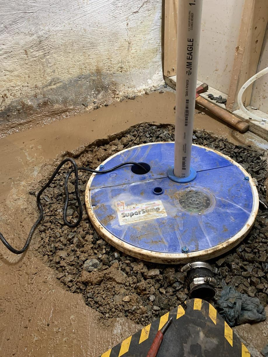 Sump Pump and Pit Installed in Summit, New Jersey