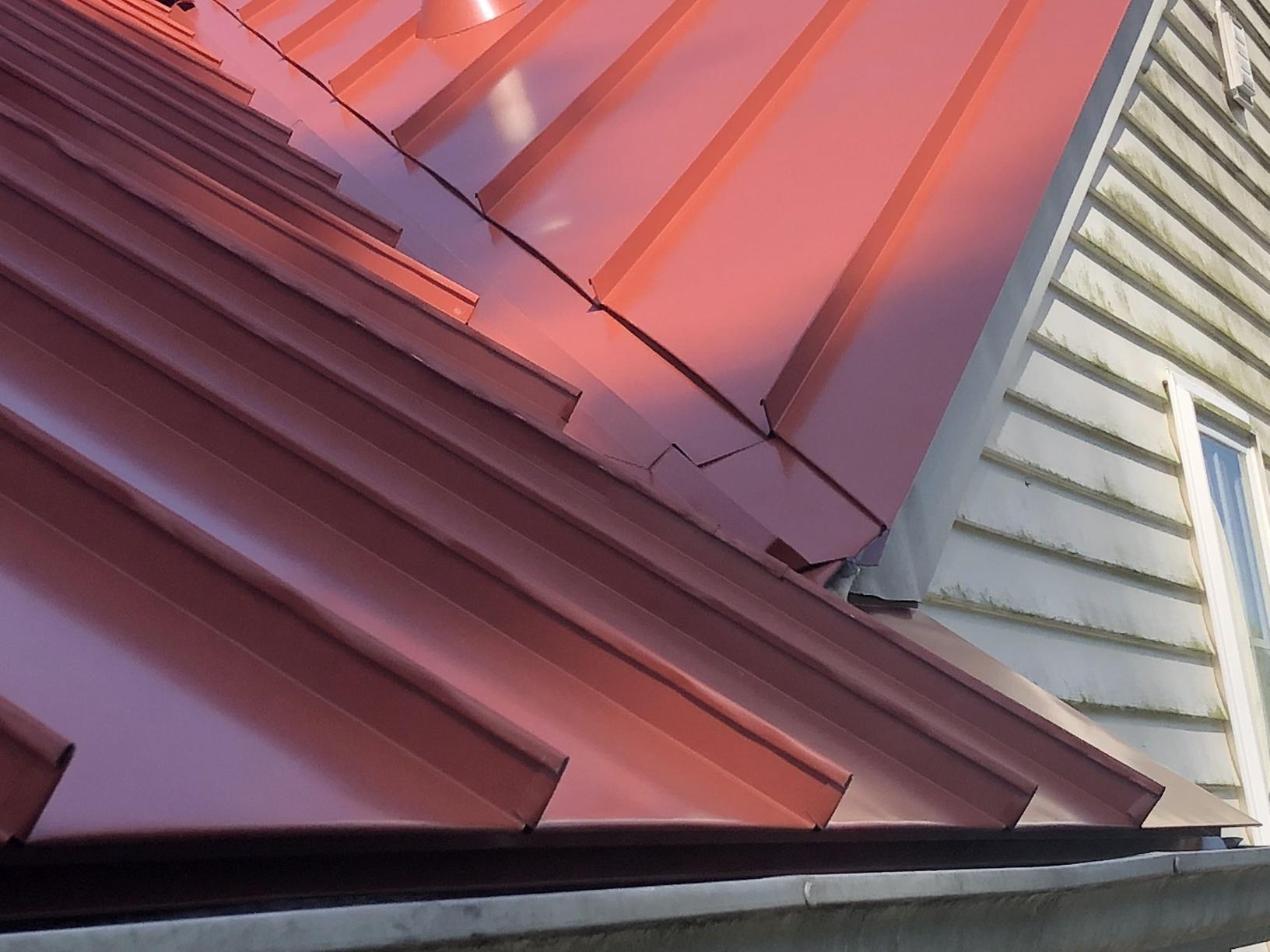 Terra Cotta Standing Seam Metal Roof Finish