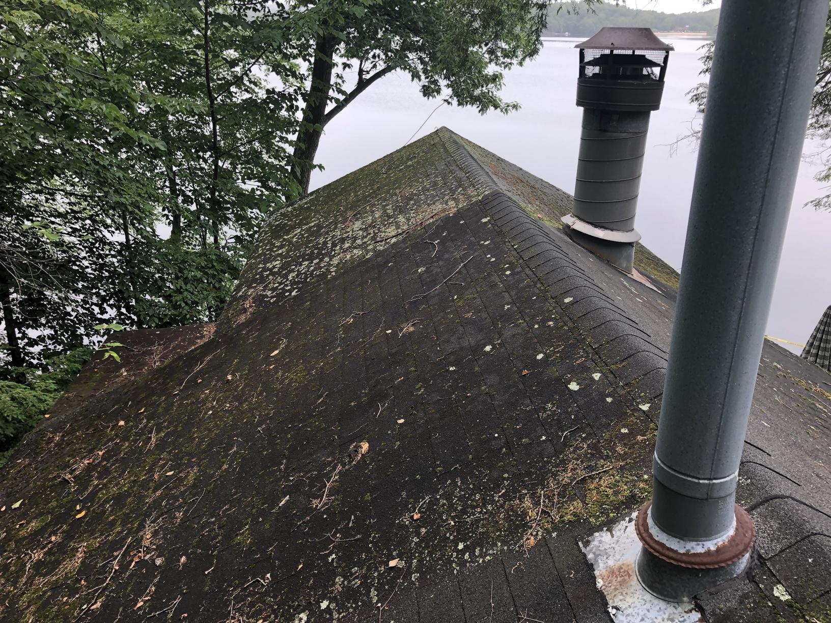 Replacing Asphalt Shingles on Lakeside Cabin in NJ