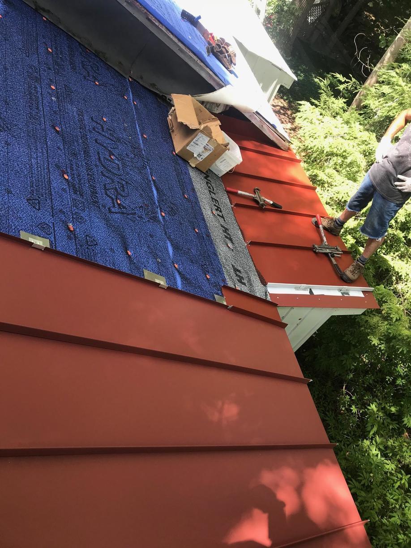 Progress Photo of Metal Roof Install
