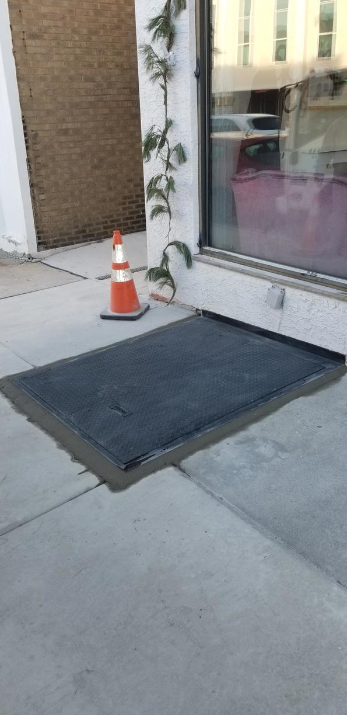 Diamond plate sidewalk door installed in Haverford, PA