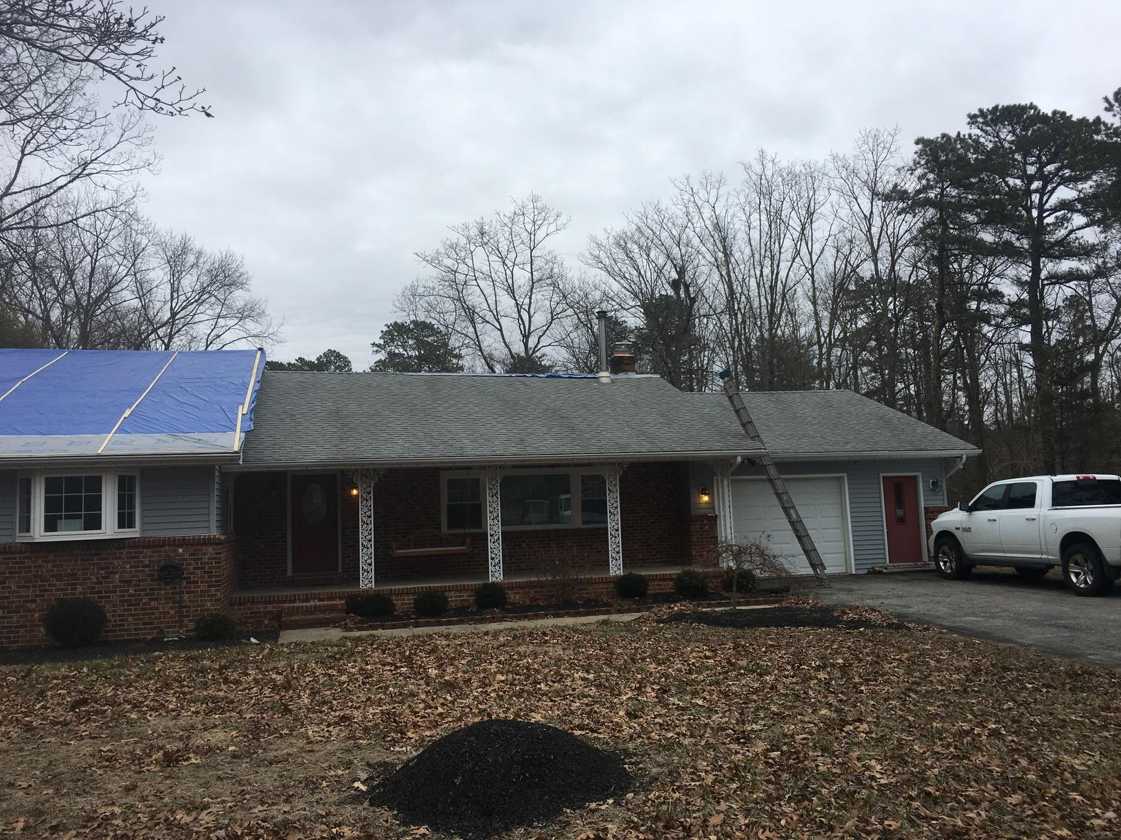 Replacing Leaky Asphalt Shingle Roof of Ranch Home in NJ