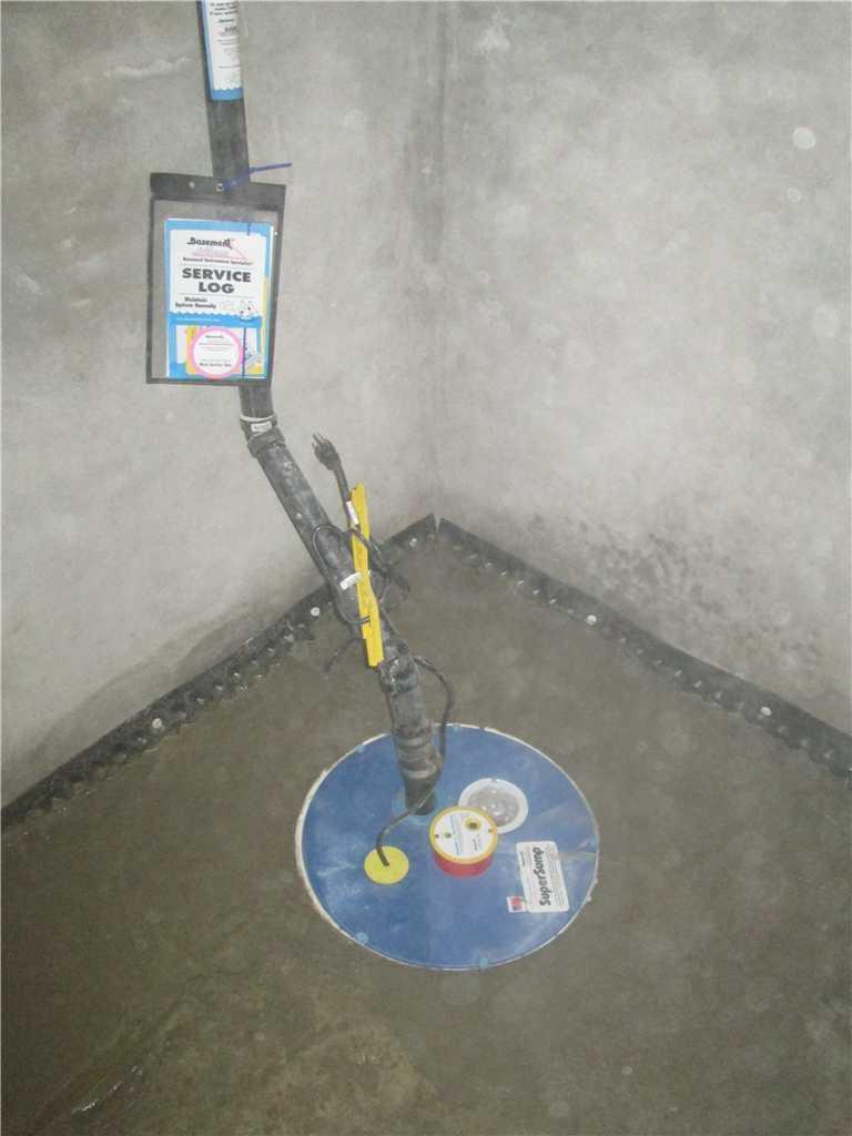 SuperSump pump installed