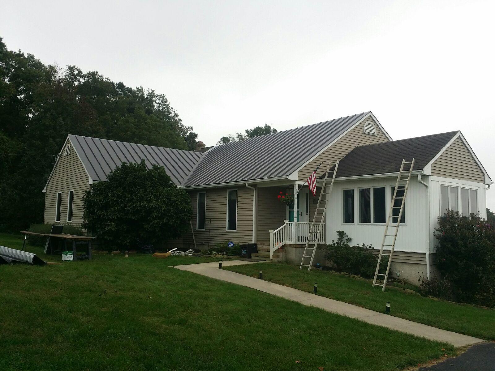 Progress Photo of Metal Roof Installation