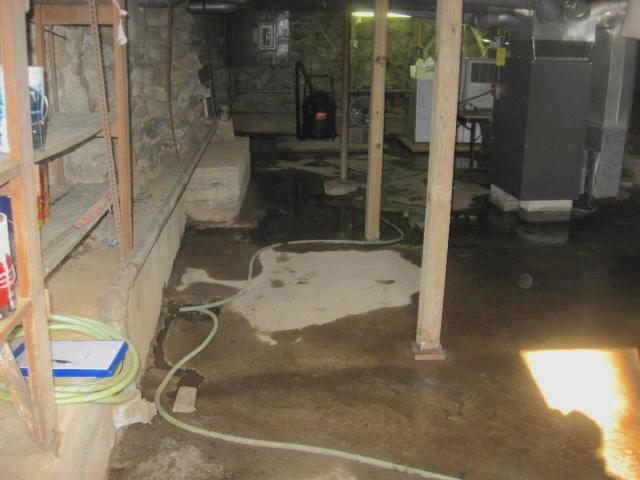 Basement Waterproofing Water Damaged, How To Get Standing Water Out Of A Basement