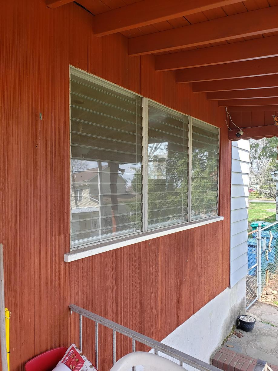 Replacing Wood Triple Picture Windows with Vinyl in Bristol, PA