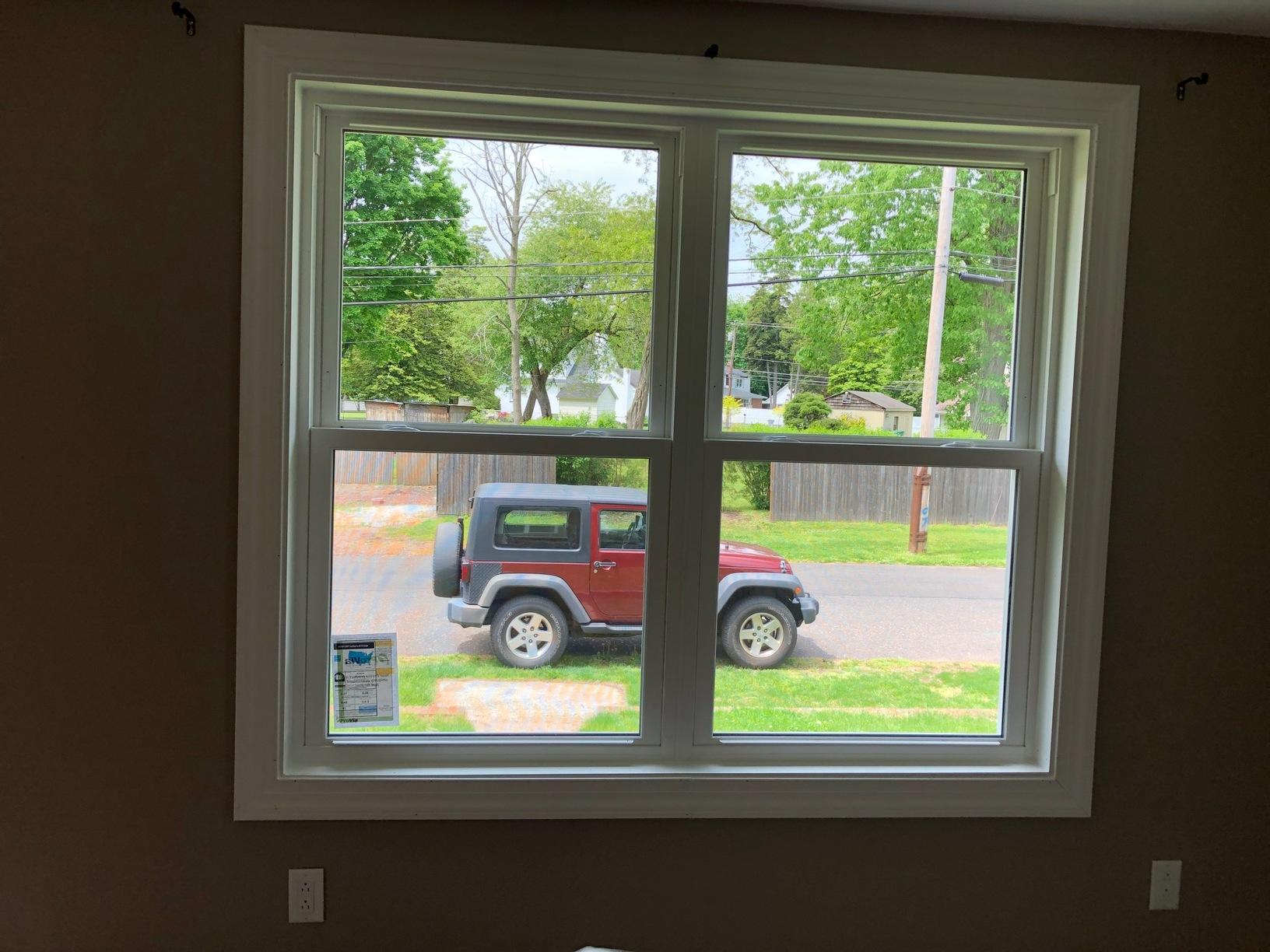 Vinyl Double Hung Window Install on Front of Home
