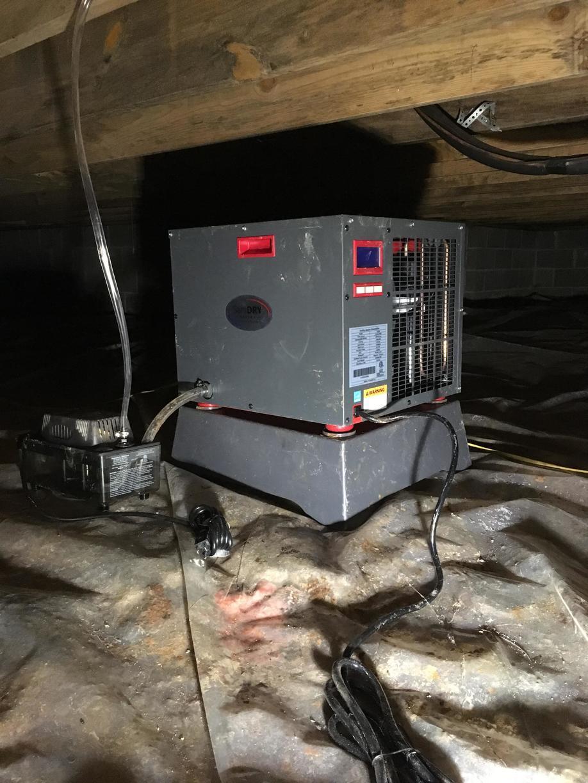 Installing Dehumidifier