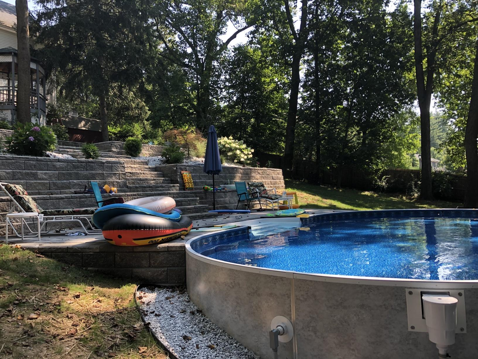 On Ground Radiant Pool Installation in Middletown, NJ