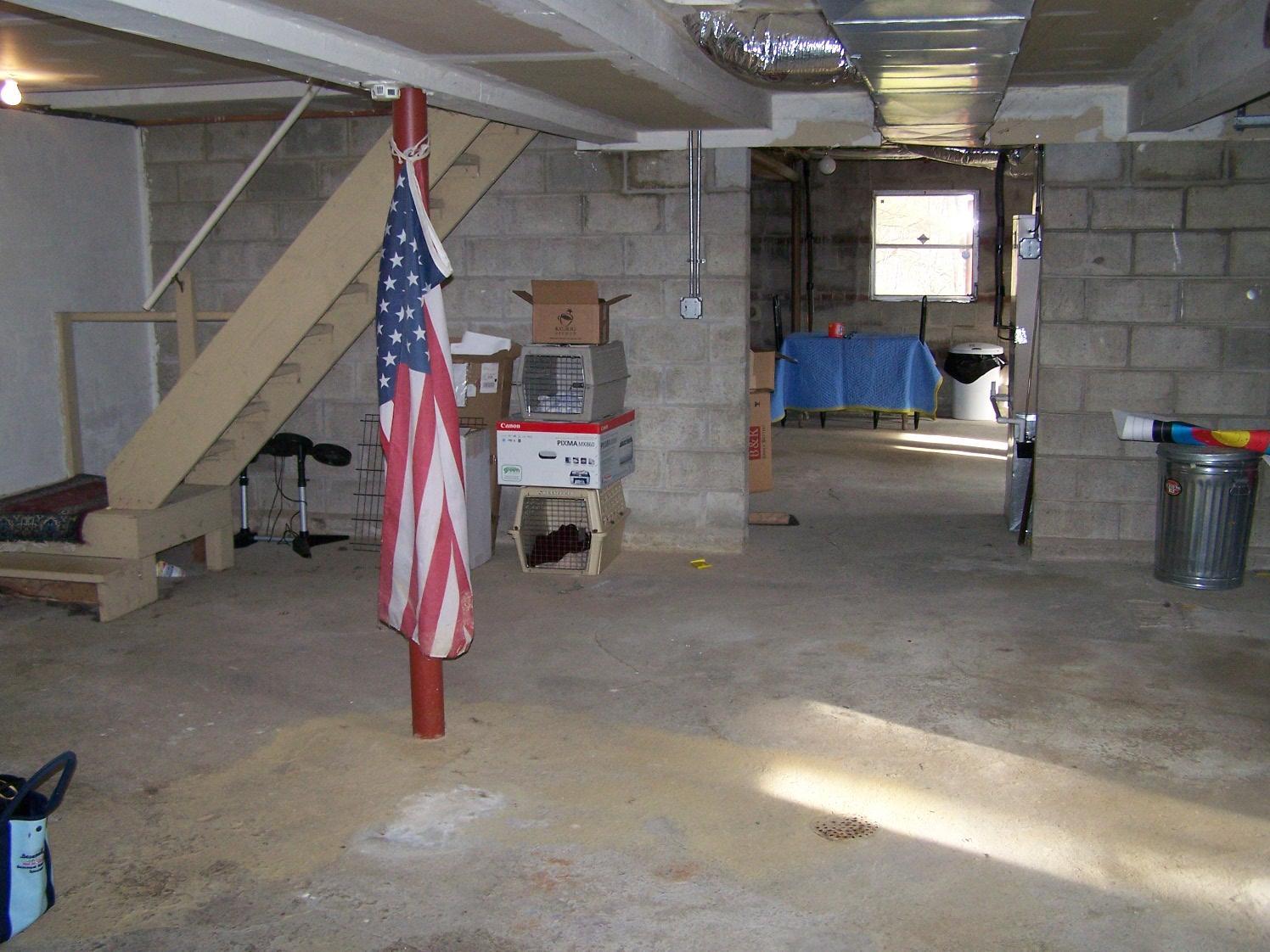 Staining in Mount Kisco, NY Basement