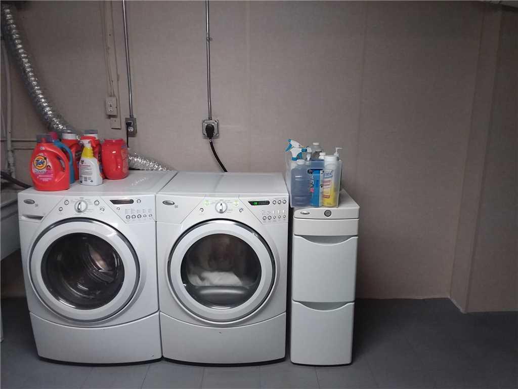 New laundry area