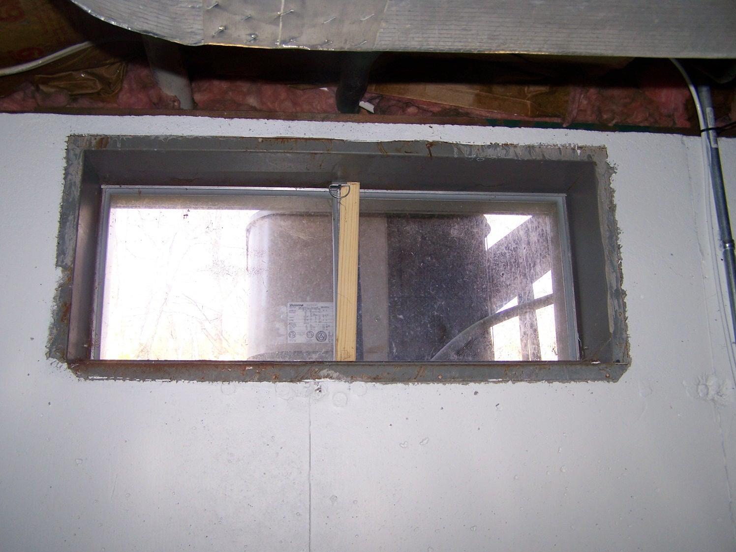 Old Basement Window in Windsor Locks, CT