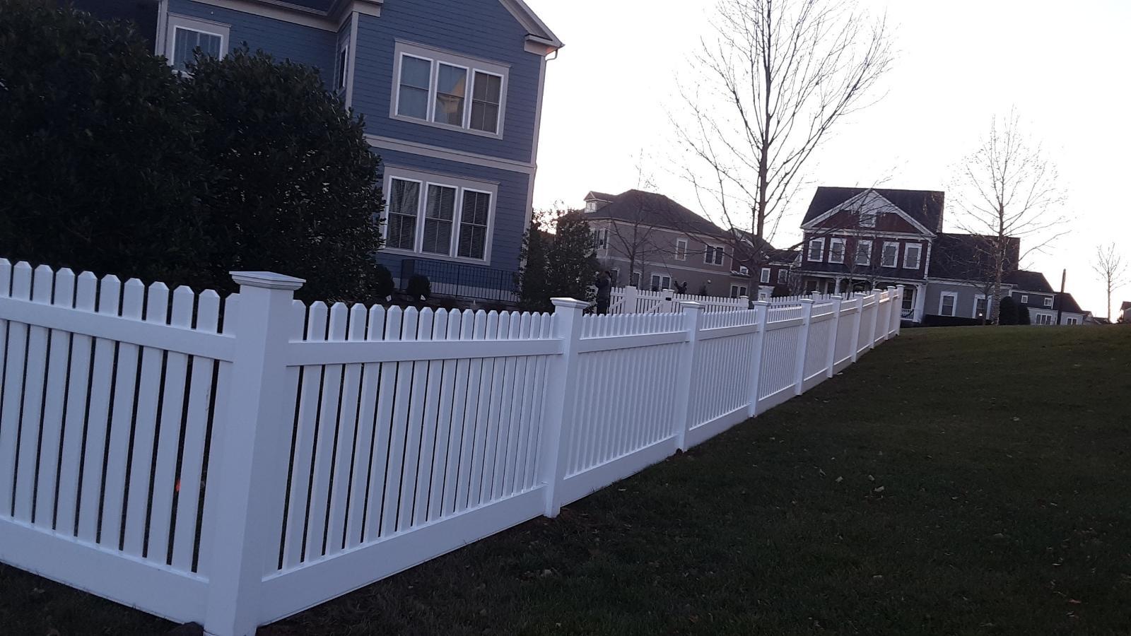 Vinyl Picket Fence Built in Winchester, VA