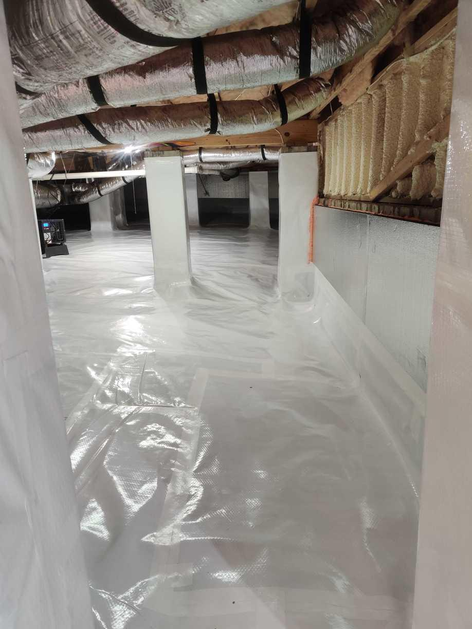 CleanSpace Vapor Barrier on Ground