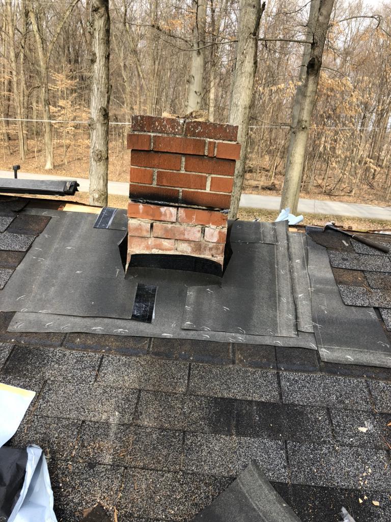 Roof Repair Leaking Roof Around Chimney Repaired In