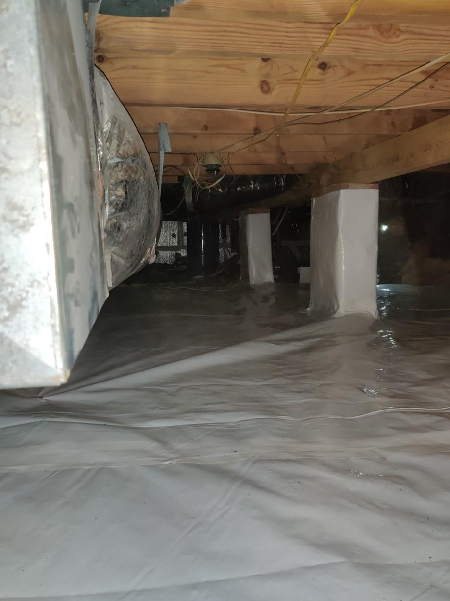 Finished Crawl Space Floor Covering