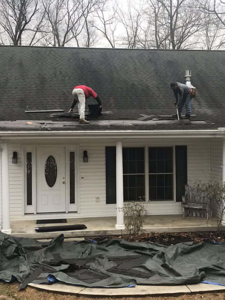 Removing More of the Damaged Shingles in Zanesville, OH