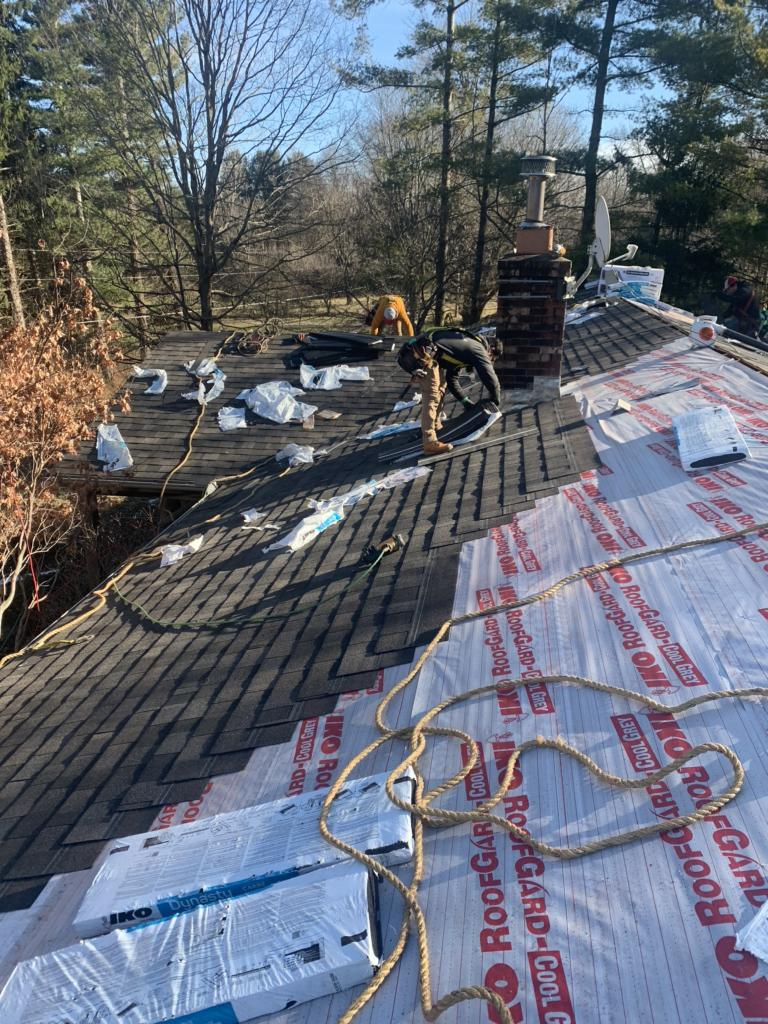 Roof Replacement In Pataskala Oh Laying New Shingles