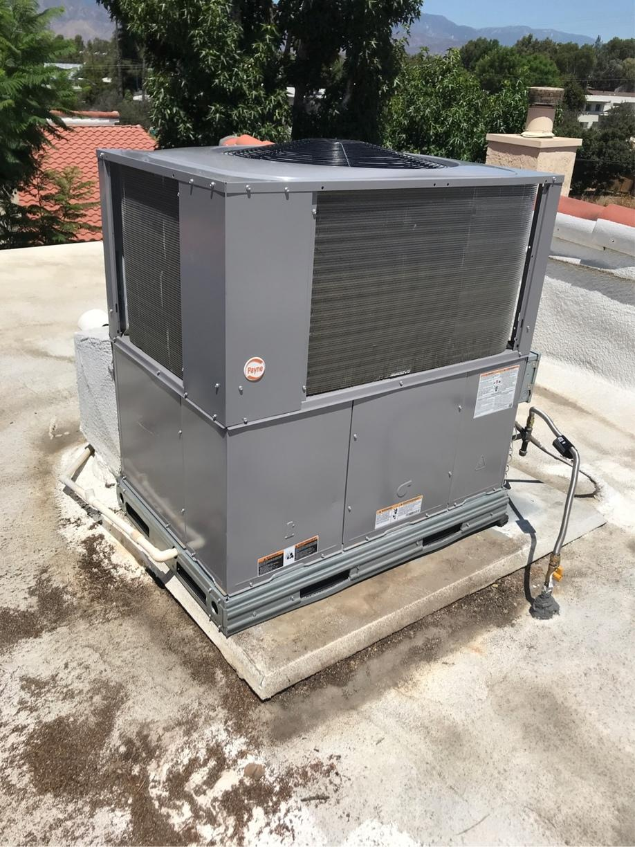 Payne Packaged Unit Installation in Redlands, CA