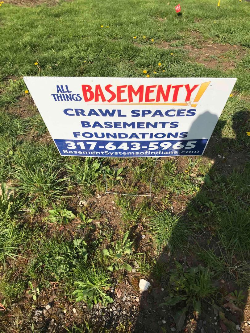 All Things Basementy Yard Sign