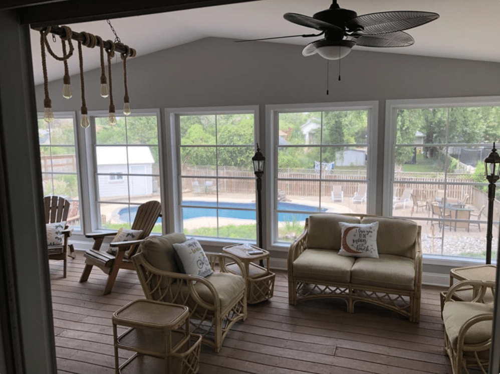Deck transformed into a new addition.