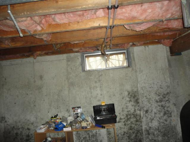 Exposed Basement Ceiling in Hanover, CT