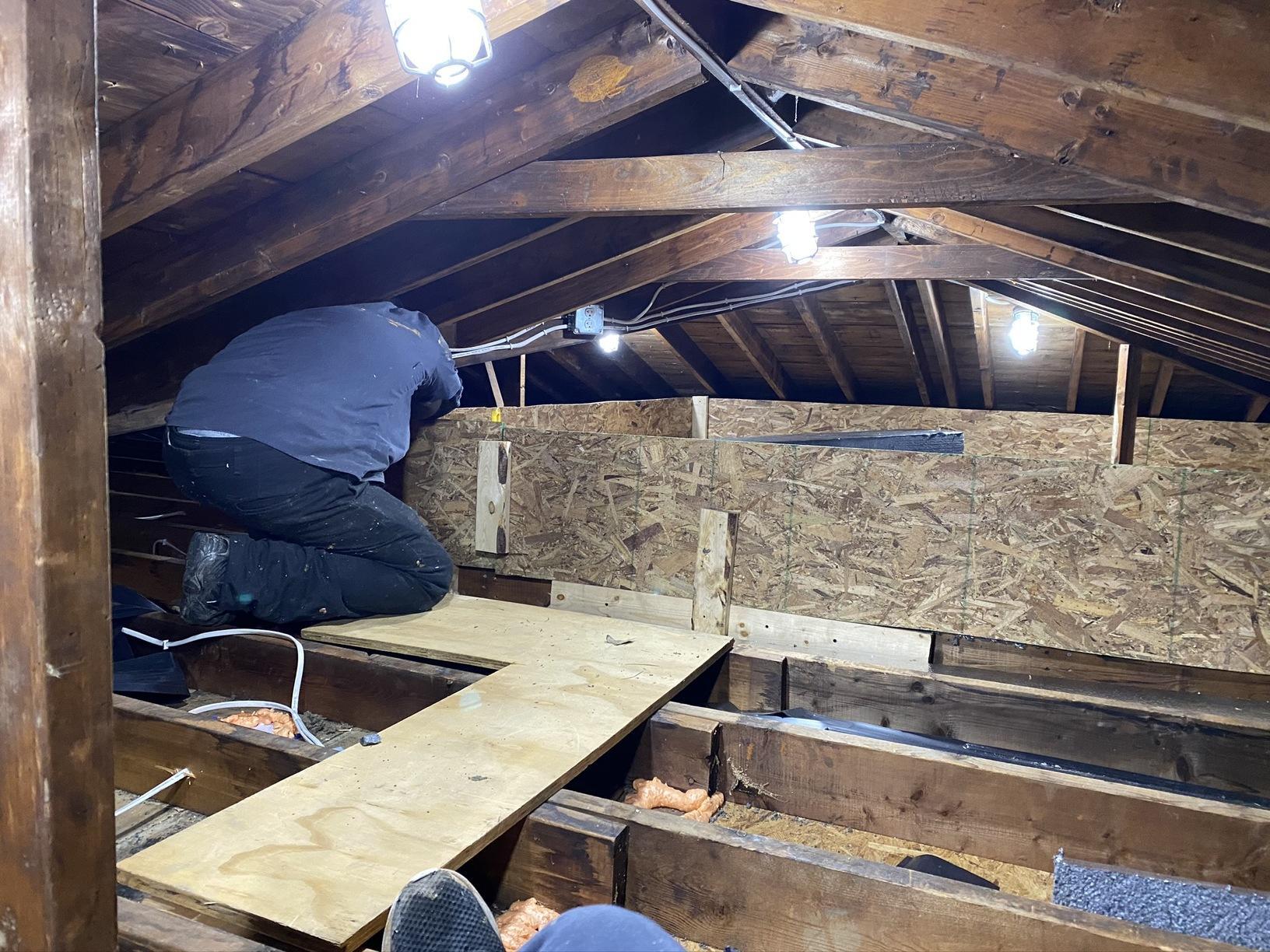 Putting in a storage deck
