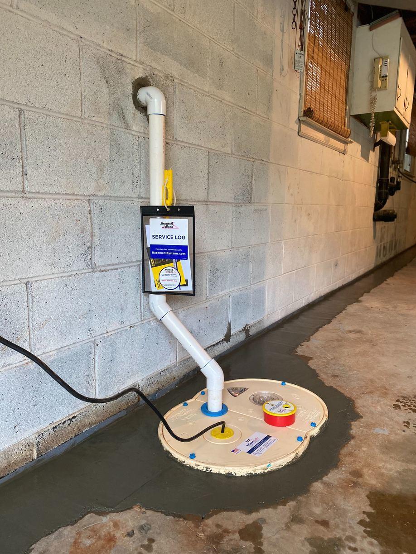 Installed Sump Pump