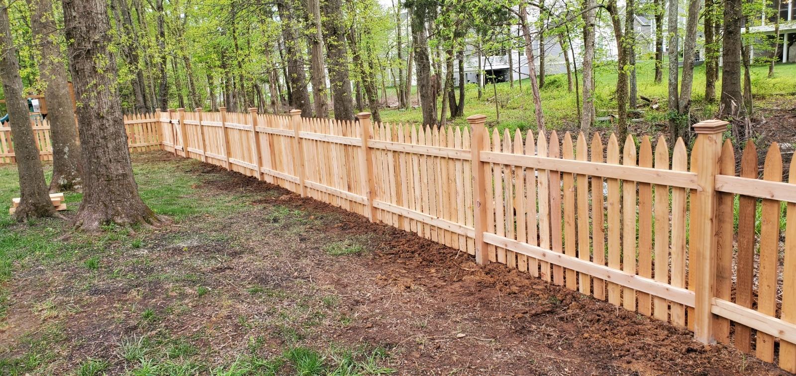 Picket Cedar Fence