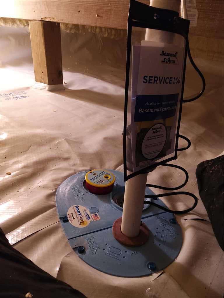 Installing SmartSump in Crawl Spaces