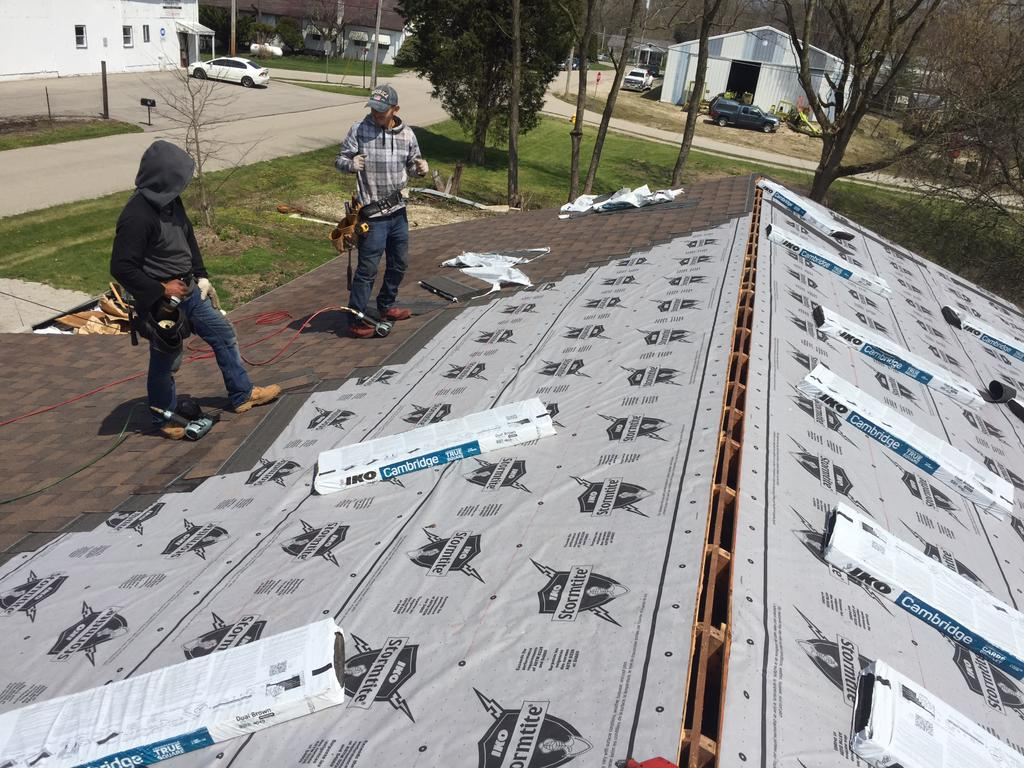 Laying the New Shingles in Ostrander, OH