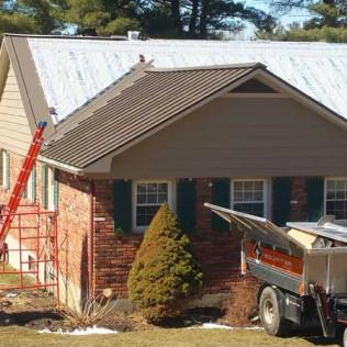 During a Metal Roof Installation in Richmond, MA