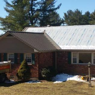 During a New Metal Roof Installation in Richmond, MA