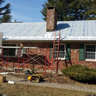A Metal Roof Being Installed in Richmond, MA