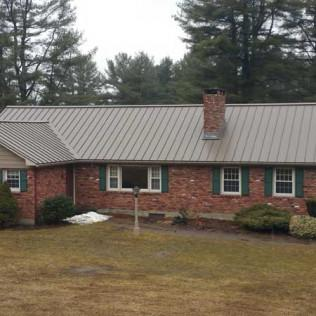 New Metal Roof Installed on a Richmond, MA Home