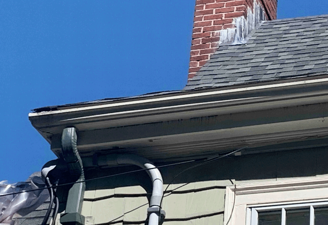 Rotting Wooden Gutters