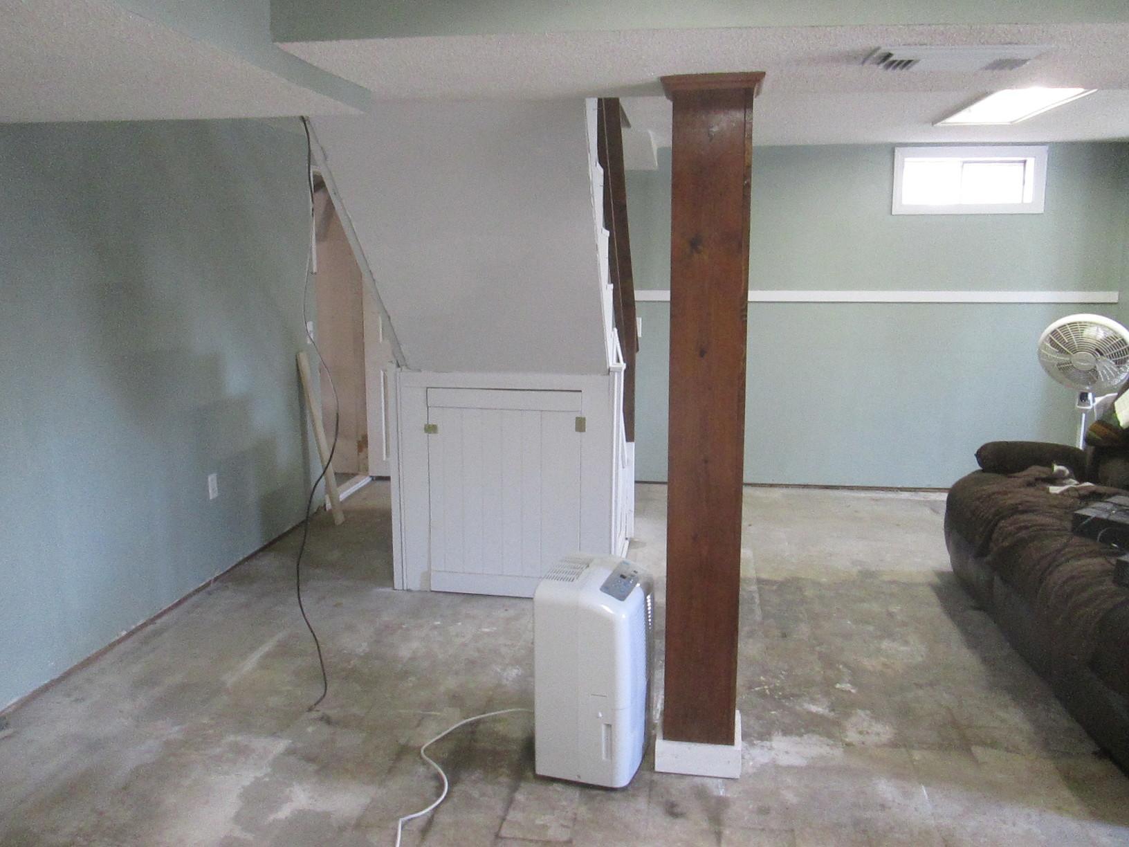 Unfinished Basement Floor in Hampton, CT