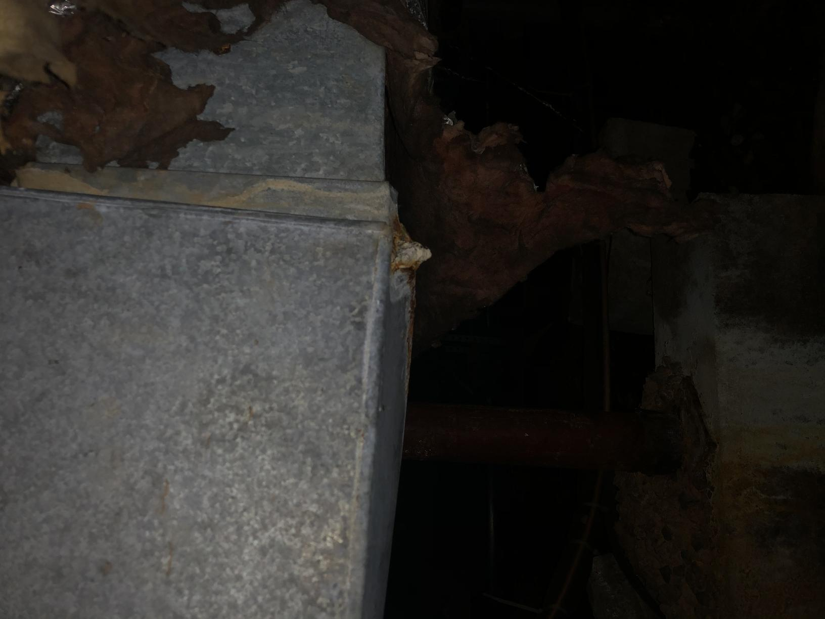 Rust in crawl space